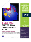 Gifted Asia 2014 Conference Nov 1 Monash