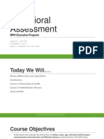 Session 1_2014 Behavioral Assessment Part 1