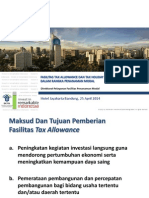 FASILITAS TAX ALLOWANCE DAN TAX HOLIDAY  DALAM RANGKA PENANAMAN MODAL  (Bkpm)