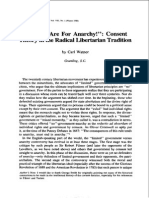 Oh, Ye Are for Anarchy! - Consent Theory in the Radical Libertarian Tradition
