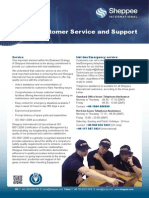 Customer Support Leaflet