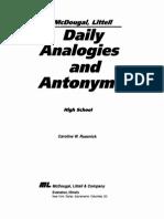 Analogies and Antonyms