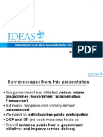 Presentation on Malaysia and the Open Government Partnership