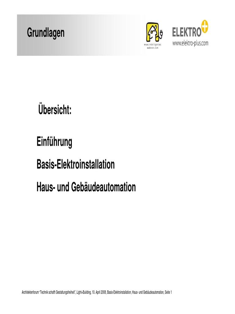 Erfreut Grundlagen Der Elektroinstallation Zeitgenössisch - Der ...