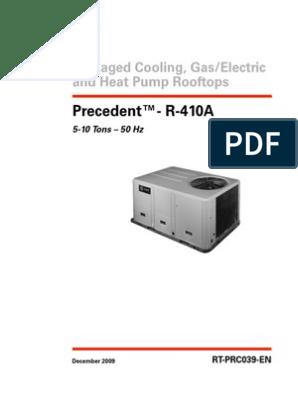catalog Trane Pakage 5-10 TR 410a | Air Conditioning