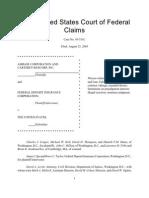 AMBASE CORPORATION v FDIC v US  Case No. 93-531C