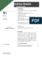 Philosophical Readings IV.1 2012