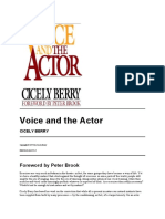 Voice and the Actor Cicely Berry