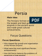 Main Idea the Persians Formed One of the Largest And