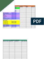 Drum Practice Recording Chart