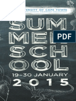 2015 UCT Summer School Programme