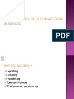 10239 Entry Modes in International Business 11