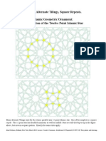 Islamic Geometric Ornament the 12 Point Islamic Star 4 Alternate TIlings Square Repeats