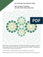 Islamic Geometric Ornament the 12 Point Islamic Star VII 9 Plus 12 Point Star Tiling