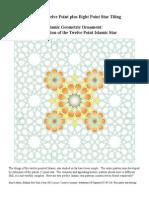 Islamic Geometric Ornament the 12 Point Islamic Star VI 8 Plus 12 Point Star