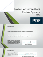 Introduction to Feedback Control Systems