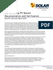 Standardizing PV System Documentation and Verification