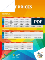 ICC Cricket World Cup 2015 Australia Ticket Pricing