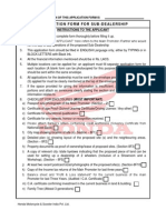 Honda Application Form Page 1