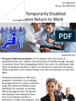 Helping Temporarily Disabled Employees Return to Work