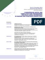 I EUROPÄISCHE GIPFEL DER LOKALE MITTLERE REGIERUNGEN FÜR MULTI-LEVEL-GOVERNANCE IN RAHMEN DER STRATEGIE EUROPA 2020