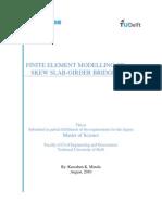 Finite Element Modelling of SKEW SLAB-GIRDER BRIDGES (Thesis)