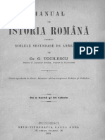Istorie manual vechi