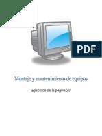 Actividades página 20 del Libro de Editex