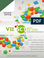 Cartaz da semana de ciência e tecnologia