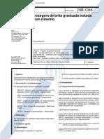 NB 1344 - 1991 - Dosagem de brita graduada tratada com cimento.pdf