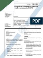 NB 1345 - 1991 - Sub-base ou base de brita graduada tratada com cimento (BGTC).pdf