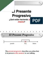 el presente progresivo ppt