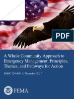 Community Approach to Emergency Management FEMA