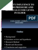 Presentasi Hasil  Penelitian Pengaruh Obesitas Terhadap Tekanan Darah Dan Kadar Glukosa Darah Pada Lansia