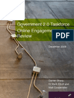 Government 2.0 Taskforce Online Engagement Review