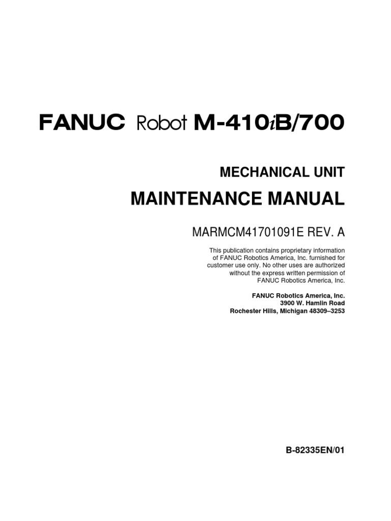 m410 700 pdf robot technology rh scribd com Fanuc Robot Cable Fanuc Robot Service Manual