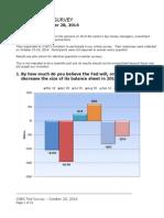 CNBC Fed Survey, October 28, 2014