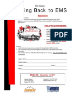 Giving Back to EMS Application 2014