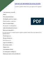 """FRASES PARA UTILIZAR EN LOS INFORMES DE EVALUACIÃ""""N.docx"""