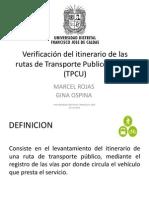 Verificación del itinerario de las rutas de Transporte.pptx