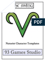 The Swing Naturist Character Templates