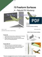 CATIA V5R16 Freeform Surfaces – Rebuild P51 Mustang