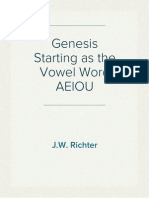 Genesis Starting as the Vowel Word AEIOU