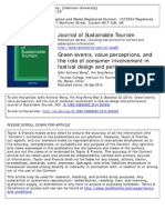Green Events Value Perceptions