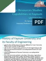 Water Resources Studies Capabilities in Fayoum University