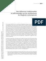 Des influences traditionnelles et patrimoniales sur les architectures du maghreb contemporain.pdf