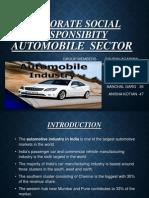 Automobile sectors Corporate Social Responsibility initiatives