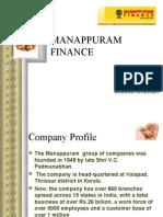 Presentation on Manappuram Gold Finance by indu & sheena of grgsms,cbe.