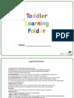 Toddler Learning Folder