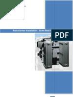 Transformer Installation - Some Best Practices